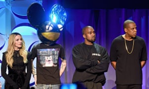 Madonna, Deadmau5, Kanye West, and Jay Z at the Tidal launch in New York.