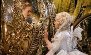 One 'ell of a result ... Lily James and Helena Bonham Carter in Cinderella.