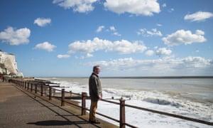 Nigel Farage at St Margaret's Bay, near Dover.