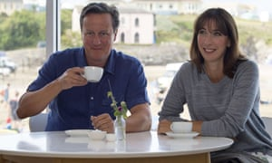 'Normal bloke' David Cameron snapped on holiday in Cornwall