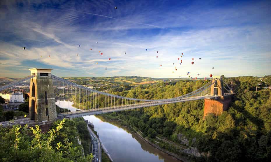 The Clifton Suspension Bridge in Bristol.