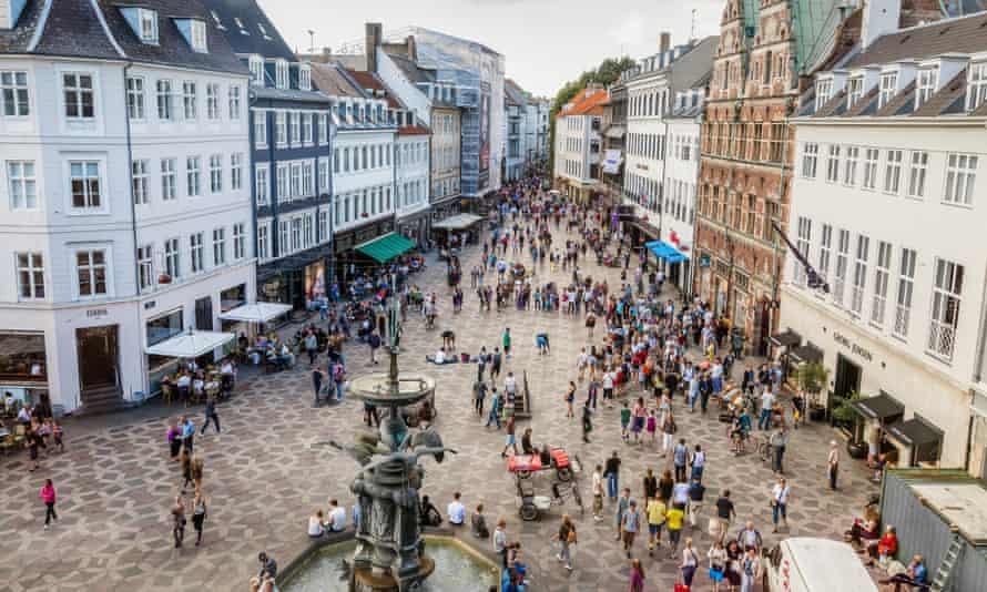 Copenhagen's main pedestrian square
