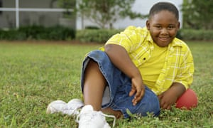 An overweight child