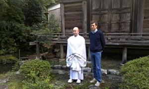 'Sometimes I had slumps' … Adharanand Finn with a marathon monk