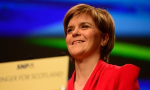 The SNP leader and Scotland's first minister, Nicola Sturgeon.