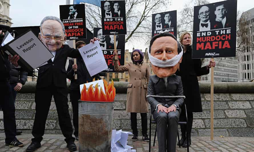 Protesters at the Leveson inquiry