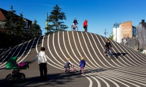 Ride the bump … Great design and great fun at Superkilen park, Copenhagen.