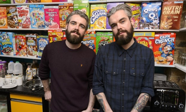 Super bowls: Irish twins Gary and Alan Keely, founders of the Cereal Killer café in Brick Lane.