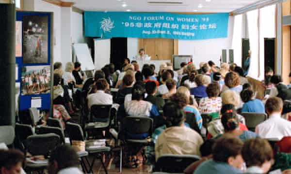 NGOs hold a forum in Beijing during the fourth world conference on women in 1995, which set an ambitious agenda for the 21st century.