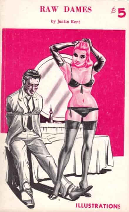 The cover of a 1960s illustrated book featuring a woman and a tied-up man