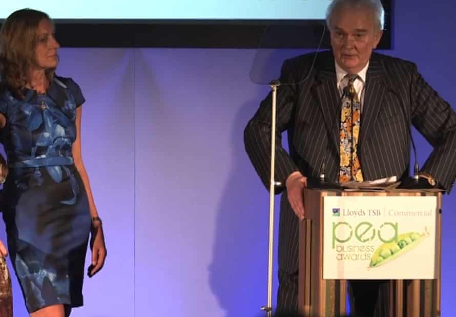 Sabine Raab and Lord Laird at the Lloyds TSB People Environment & Achievement Business Awards.