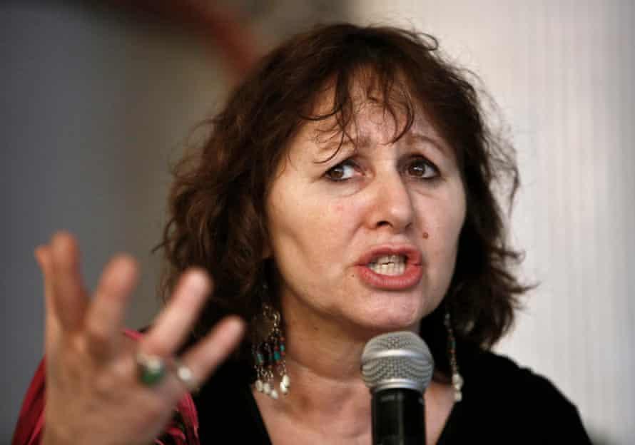 British filmmaker Leslee Udwin addresses a press conference.