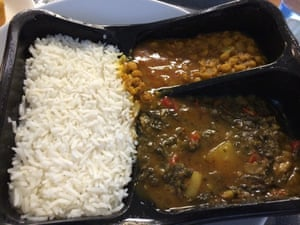 Vegan curry with rice
