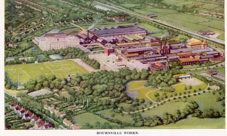 Cadbury's Bournville from above.