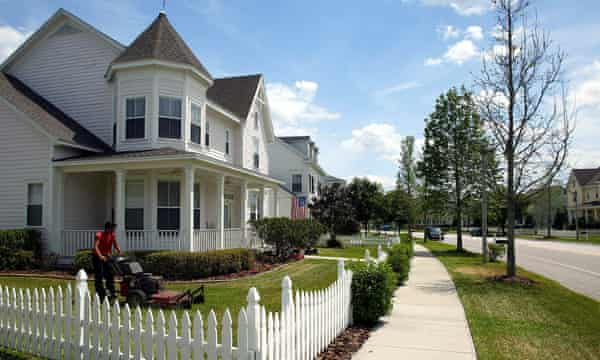 "Homes designed in the ""new urbanism"" style in Celebration, Florida."
