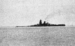 The Japanese battleship Musashi in October 1944