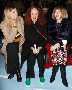 Grace Coddington in ponyskin pumps