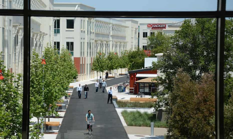 Facebook's main campus in Menlo Park, California.
