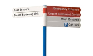 Hospital Information and Directions Sign