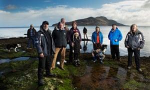 Howard Wood andthe Community of Arran Seabed Trust at Lamlash, Isle of Arran.