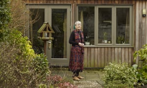 'People are amazed at the underground tank in my garden because you can only see the lid': Averil Stedeford outside her eco house in Oxford.