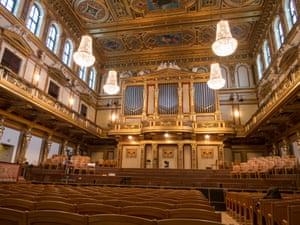 Stage of the Golden Hall at Musikverein, Vienna