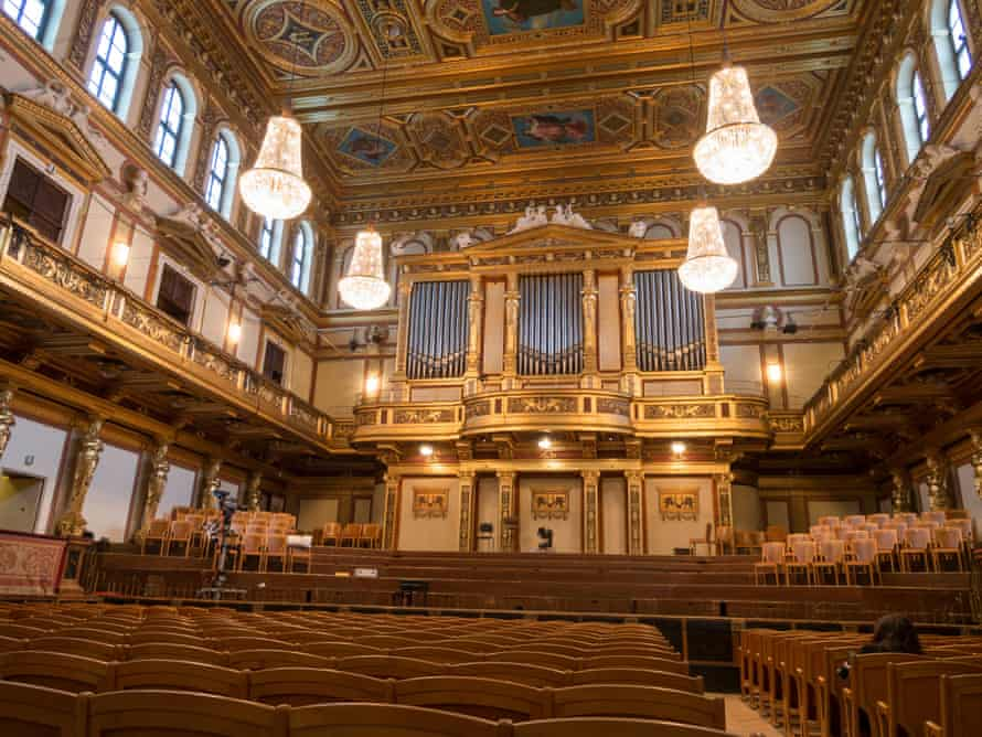 Stage of the Golden Hall at Musikverein, Vienna