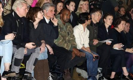 Kanye West at the Dries Van Noten show Paris fashion week