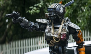 Sharlto Copley plays the motion-captured robot cop in Chappie