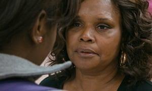 Brenda Myers-Powell speaks to a high-school girl in Dreamcatcher