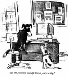 Peter Steiner's cartoon, published in The New Yorker