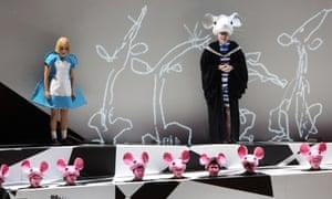A scene from Alice in Wonderland.