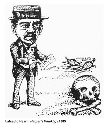 Lafcadio Hearn, Harper's Weekly, c1885