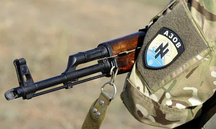 An Azov fighter's insignia
