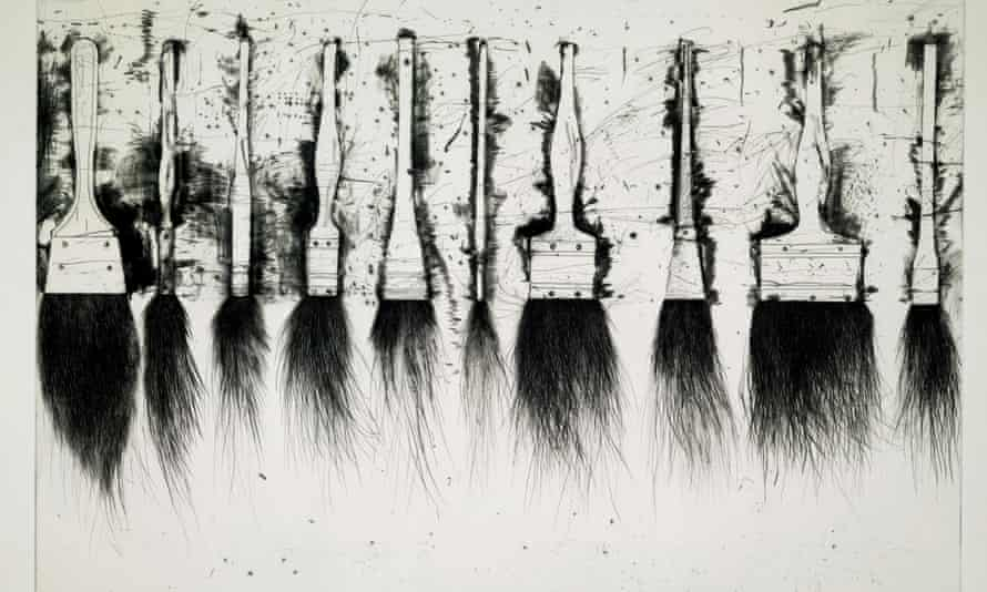 1973 etching with drypoint, by Jim Dine. The artist has given more than 200 works to the British Museum.