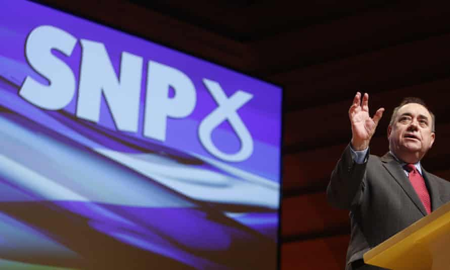 Alex Salmond giving his last speech as leader of the Scottish National Party, 14 November 2014