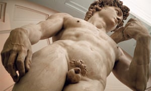Michelangelo's David sculpture in the Galleria Dell'Accademia in Florence.