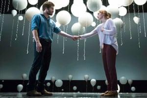 Ruth Wilson with Jake Gyllenhaal in her Broadway debut, Constellations.