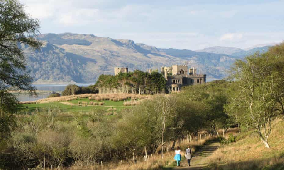 The ruined castle, Shuna, Scotland.