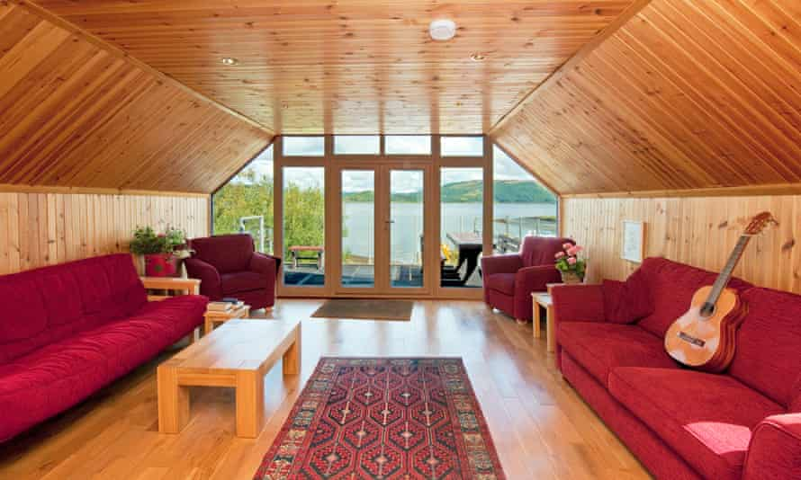 The lounge of the Boat House, Shuna island, Scotland