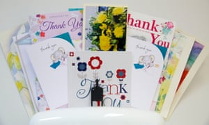 Thank you cards in Dr Veena Jha's consulting room.