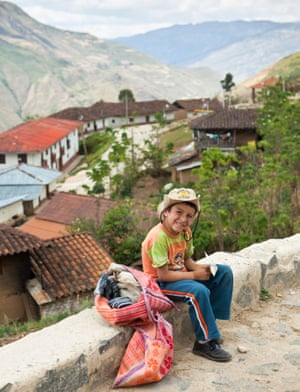 A boy in Maria village, near Kuelap, where people fear losing their tourist income when the cable car is built.