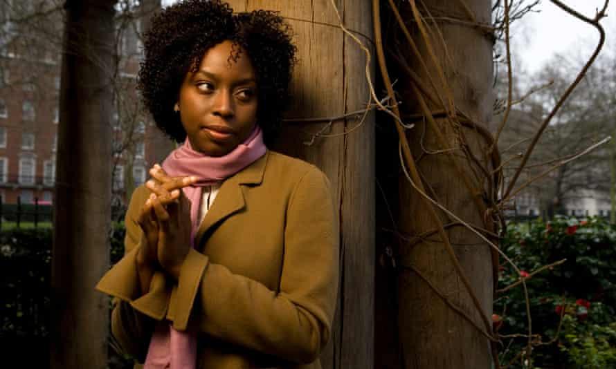 Chimamanda Ngozi Adichie photographed in Grosvenor Square in Central London