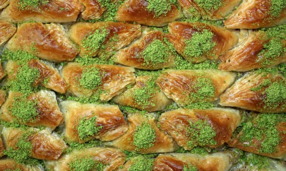 The traditional middle eastern and south-east Europe dessert, baklava.
