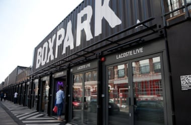 The Boxpark pop-up shopping mall in Shoreditch, London