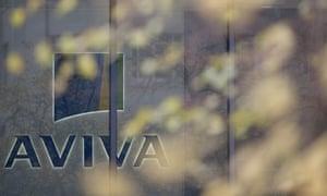 British insurance giant Aviva's headquarters in London