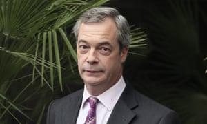 Nigel Farage at the ITV studios in London.
