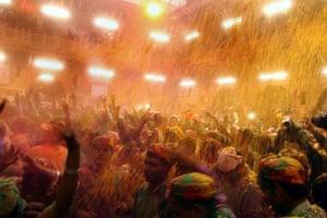 Celebrations at the Banke-Bihari temple