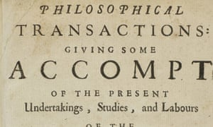 Title page of Philosophical Transactions