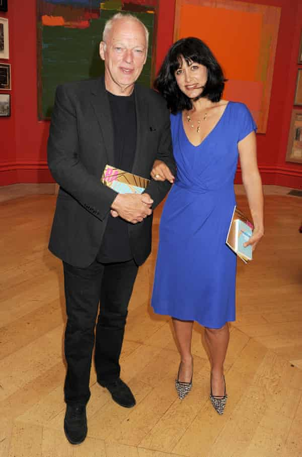 Polly Samson with her husband David Gilmour.